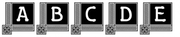 Gildersleeve Initials No 3 Bold Font UPPERCASE