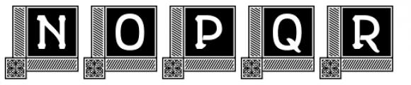 Gildersleeve Initials No 3 Bold Font LOWERCASE