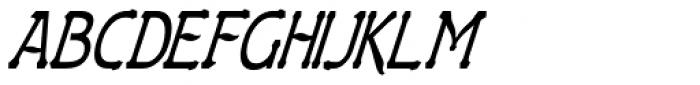 Gildersleeve Italic Font UPPERCASE