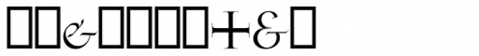 Gill Facia Titling Regular Font OTHER CHARS