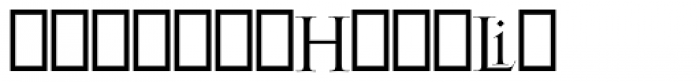 Gill Facia Titling Regular Font UPPERCASE