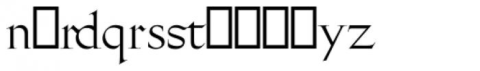 Gill Facia Titling Regular Font LOWERCASE