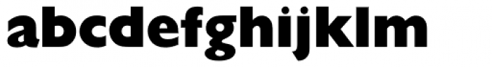 Gill Sans ExtraBold Display Font LOWERCASE