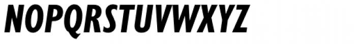 Gill Sans Nova Cond Bold Italic Font UPPERCASE