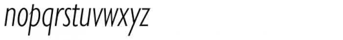 Gill Sans Nova Cond Light Italic Font LOWERCASE