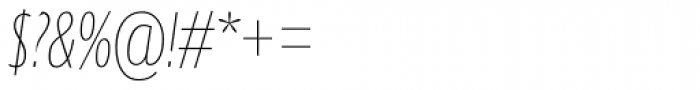 Gill Sans Nova Cond UltraLight Italic Font OTHER CHARS