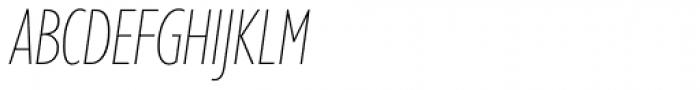 Gill Sans Nova Cond UltraLight Italic Font UPPERCASE
