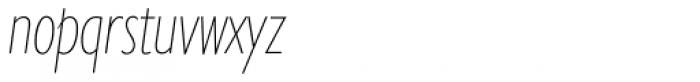 Gill Sans Nova Cond UltraLight Italic Font LOWERCASE