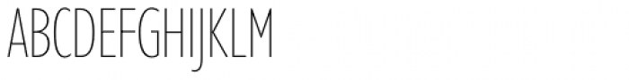 Gill Sans Nova Cond UltraLight Font UPPERCASE