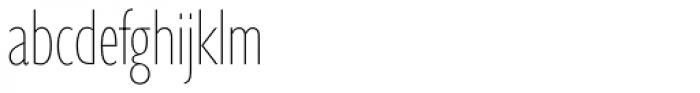 Gill Sans Nova Cond UltraLight Font LOWERCASE