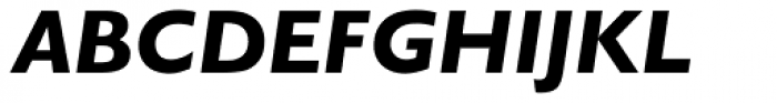 Gill Sans Nova Heavy Italic Font UPPERCASE