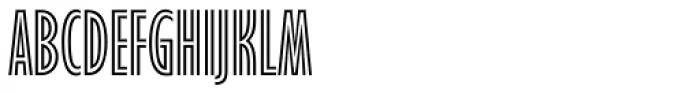 Gill Sans Nova Inline Condensed Font UPPERCASE