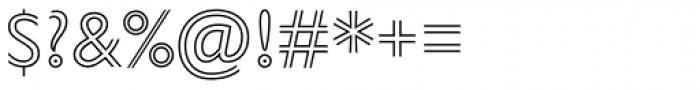 Gill Sans Nova Inline ExtraLight Font OTHER CHARS