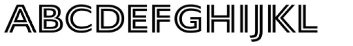 Gill Sans Nova Inline SemiBold Font LOWERCASE