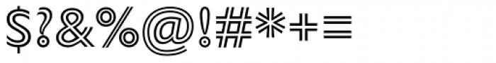 Gill Sans Nova Inline Font OTHER CHARS