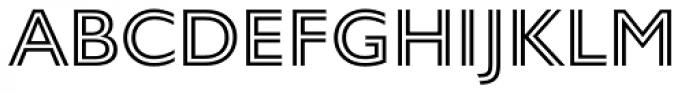 Gill Sans Nova Inline Font UPPERCASE