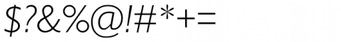 Gill Sans Nova Light Italic Font OTHER CHARS