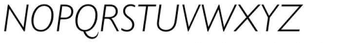 Gill Sans Nova Light Italic Font UPPERCASE