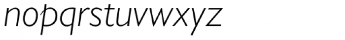Gill Sans Nova Light Italic Font LOWERCASE