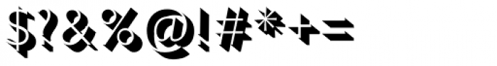Gill Sans Nova Shadowed Light Font OTHER CHARS