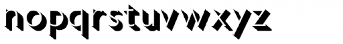 Gill Sans Nova Shadowed Light Font LOWERCASE