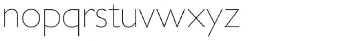Gill Sans Nova UltraLight Font LOWERCASE