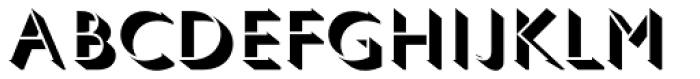 Gill Sans Pro Light Shadowed Font UPPERCASE