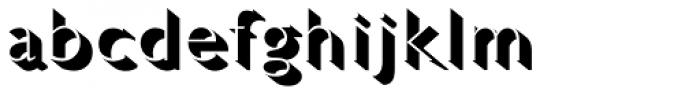 Gill Sans Pro Light Shadowed Font LOWERCASE