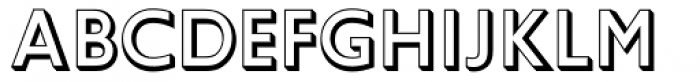 Gill Sans Shadowed Font LOWERCASE