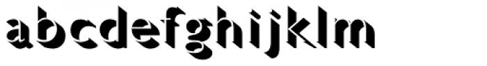 Gill Sans Std Light Shadowed Font LOWERCASE