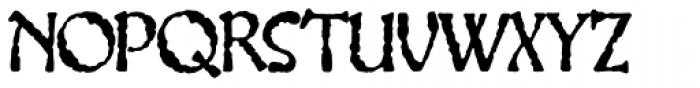 Gillateg Font UPPERCASE