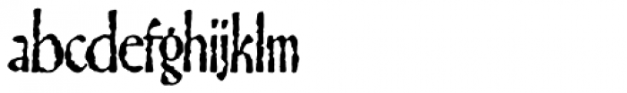 Gillateg Font LOWERCASE