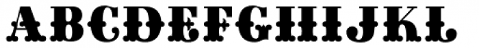 Gille Classsic Fill Font LOWERCASE