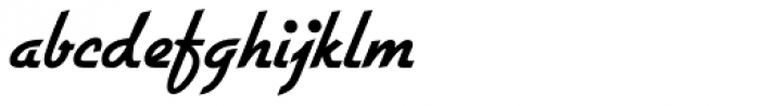 Gillies Gothic Bold Font LOWERCASE