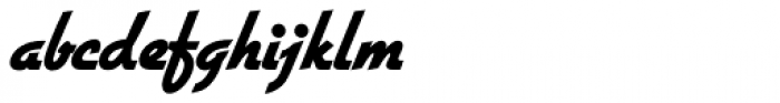 Gillies Gothic SH ExtraBold Font LOWERCASE