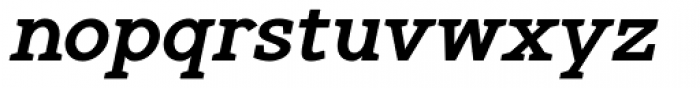 Gilmour Bold Italic Font LOWERCASE