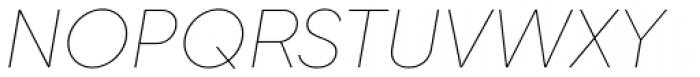 Gilroy Thin Italic Font UPPERCASE