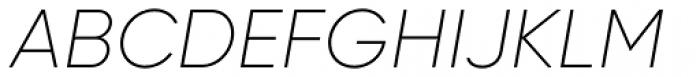 Gilroy Ultra Light Italic Font UPPERCASE
