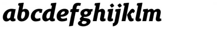 Gimbal Egyptian Bold Italic Font LOWERCASE