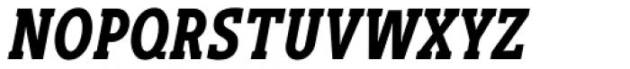 Gimbal Egyptian Compressed Bold Italic Font UPPERCASE