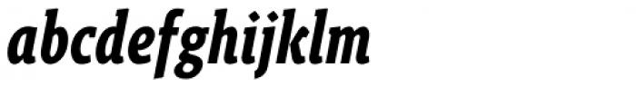 Gimbal Egyptian Compressed Bold Italic Font LOWERCASE