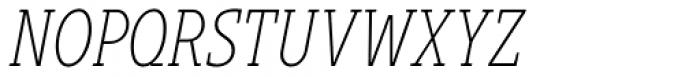 Gimbal Egyptian Compressed Light Italic Font UPPERCASE