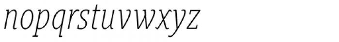 Gimbal Egyptian Compressed Light Italic Font LOWERCASE