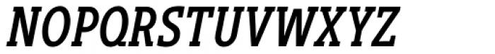 Gimbal Egyptian Compressed Medium Italic Font UPPERCASE