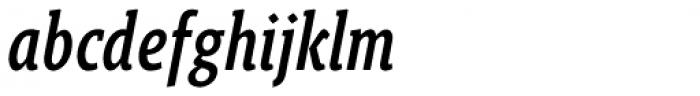 Gimbal Egyptian Compressed Medium Italic Font LOWERCASE