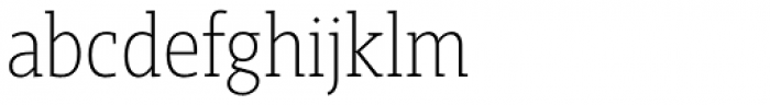 Gimbal Egyptian Condensed Light Font LOWERCASE
