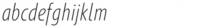 Gimbal Grotesque Compressed Light Italic Font LOWERCASE