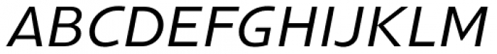 Gimbal Grotesque Extended Italic Font UPPERCASE