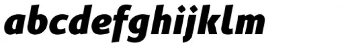 Gimbal Grotesque Heavy Italic Font LOWERCASE