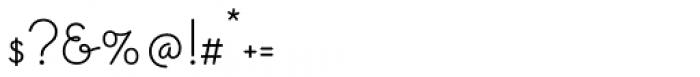 Gimbel Script Font OTHER CHARS